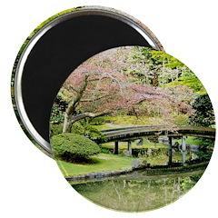 Cherry Blossom Bridge Magnets