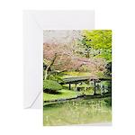 Cherry Blossom Bridge Greeting Cards