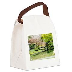 Cherry Blossom Bridge Canvas Lunch Bag