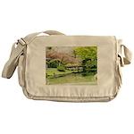 Cherry Blossom Bridge Messenger Bag