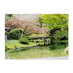Cherry Blossom Bridge 5'x7'Area Rug