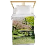 Cherry Blossom Bridge Twin Duvet