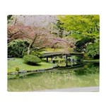 Cherry Blossom Bridge Throw Blanket