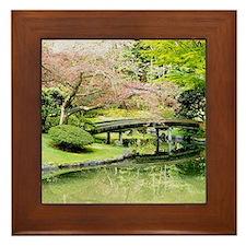 Cherry Blossom Bridge Framed Tile