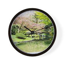 Cherry Blossom Bridge Wall Clock
