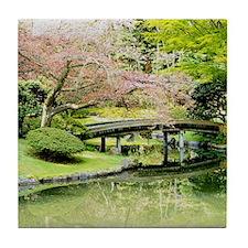 Cherry Blossom Bridge Tile Coaster