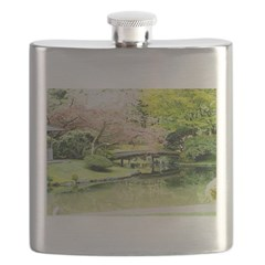 Cherry Blossom Bridge Flask