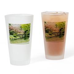 Cherry Blossom Bridge Drinking Glass