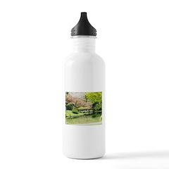 Cherry Blossom Bridge Water Bottle