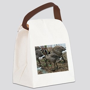 Goslings Eating Canvas Lunch Bag