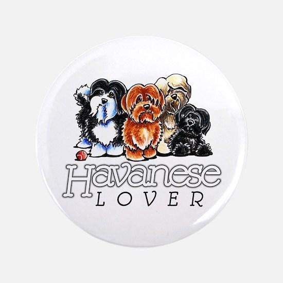"""Havanese Lover 3.5"""" Button"""