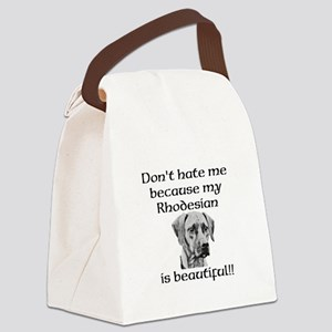 Dont hate....Rhodesian Canvas Lunch Bag