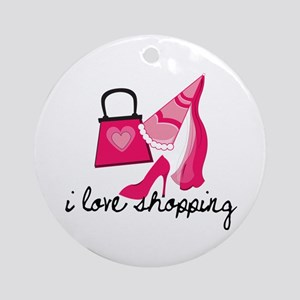I Love Shopping Ornament (Round)