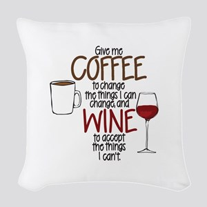 Give Me Coffee To Change The Woven Throw Pillow