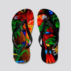 Macaw Colorful Summer Flip Flops