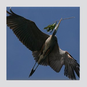 Great Blue Heron Flying Tile Coaster