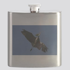 Great Blue Heron Flying Flask