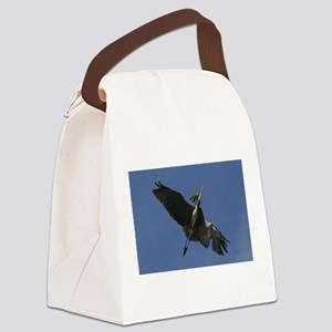 Great Blue Heron Flying Canvas Lunch Bag