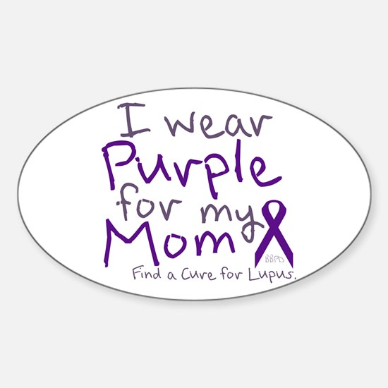 Purple for My Mom Decal