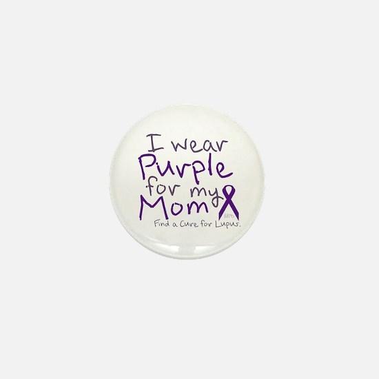 Purple for My Mom Mini Button