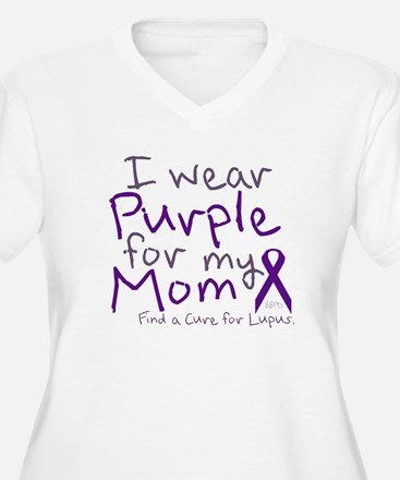 Purple for My Mom Plus Size T-Shirt
