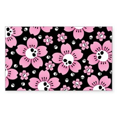 Skull Pink Blossoms Decal