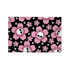 Skull Pink Blossoms Magnets