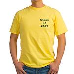 Class of 2007 Yellow T-Shirt