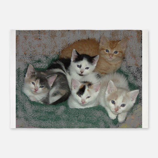 Lots of Kittens 5'x7'Area Rug