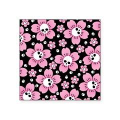 Skull Pink Blossoms Sticker