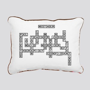 MOTHER SCRABBLE-STYLE Rectangular Canvas Pillow