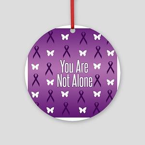 Not Alone Lupus Ornament (Round)