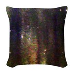 In the fog Woven Throw Pillow