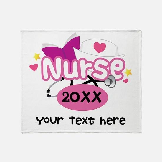 Personalized Nurse Graduation Throw Blanket