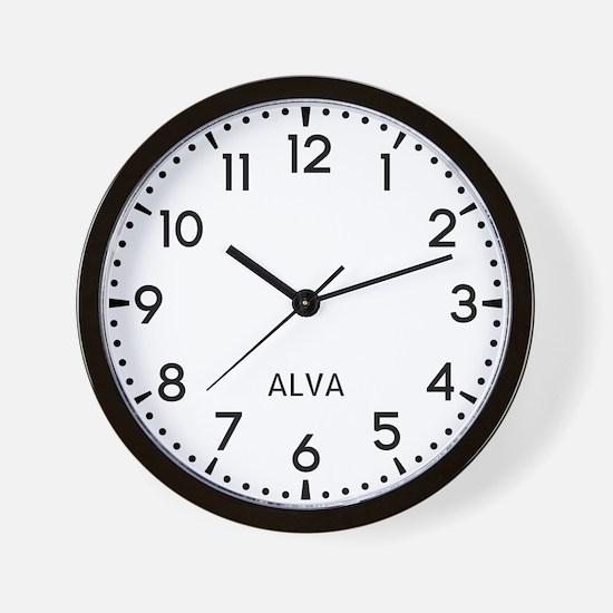 Alva Newsroom Wall Clock