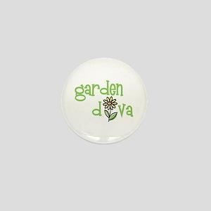 """Garden Diva"" Mini Button"