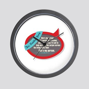 She's My Person Quote Wall Clock