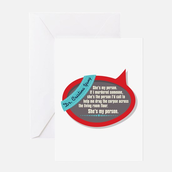 She's My Person Quote Greeting Card