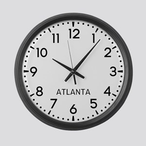 Atlanta Newsroom Large Wall Clock