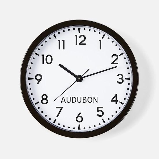 Audubon Newsroom Wall Clock