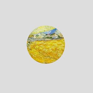 van gogh wheat Mini Button