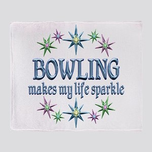 Bowling Sparkles Throw Blanket