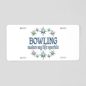 Bowling Sparkles Aluminum License Plate