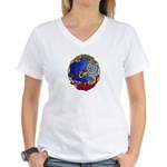 USS BLUEBACK Women's V-Neck T-Shirt