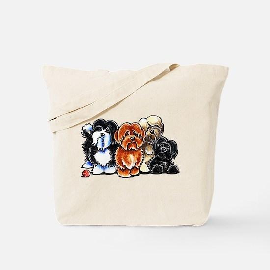 Four Havanese Tote Bag