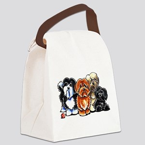 Four Havanese Canvas Lunch Bag