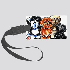 Four Havanese Luggage Tag