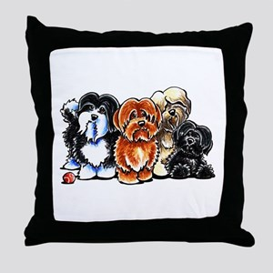 Four Havanese Throw Pillow