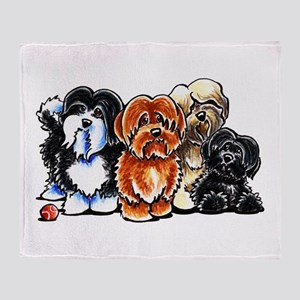 Four Havanese Throw Blanket