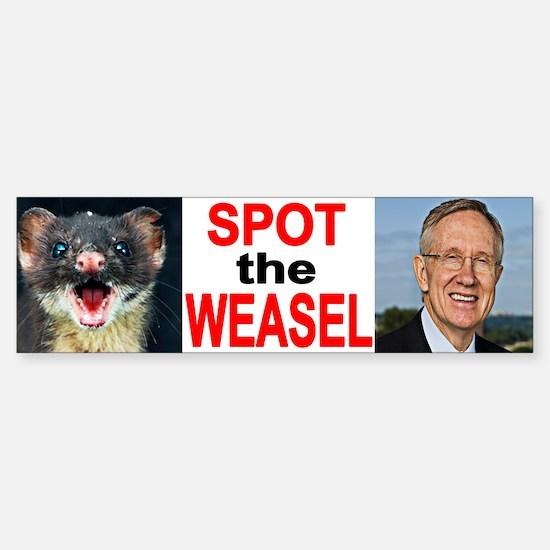 Dirty Harry Reid The Weasel Bumper Bumper Bumper Sticker